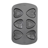 Wilton Decorated Heart Mini Cake Pan