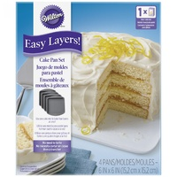 4pc Easy Layers- Square [Wilton]