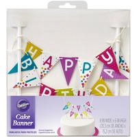 Wilton Happy Birthday Banner Cake Topper