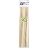 Wilton Bamboo Dowel Rods 31cm - 12 Pack