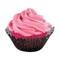 Wilton Black/pink Doily Cups 24 Pack