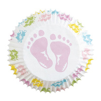 Wilton Baby Feet Standard Baking Cup - 75 Pack