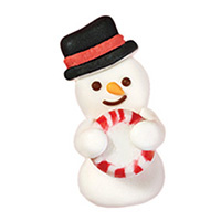 Wilton  Royal Icing Decs- Snowman with Stripe Mint 12pcs