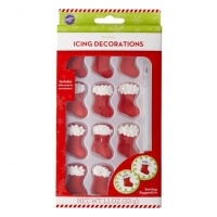 Wilton Royal Icing Decs- Stockings With Marker 12pcs