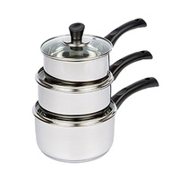 Wiltshire Evolve Saucepan Set - 3 Piece