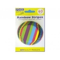 Rainbow Stripes Baking Cups