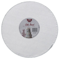 Gobake Cake Board Round 12mm Silver - 8 Inch