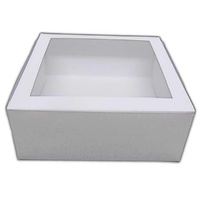 12x12x4 Inch Cake Box - Window