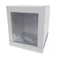8x8x10 Inch Tall Cake Box - Window