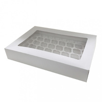 Display Standard Size Cupcake Box With Insert - Holds 24