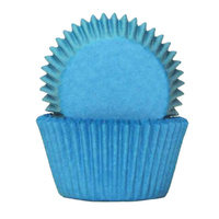 BLUE BAKING CUPS 4CM - 100 PACK
