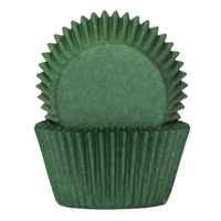 DARK GREEN BAKING CUPS 4CM - 100 PACK