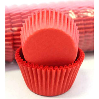 RED CUPCAKE BAKING CASES 4.4CM - 500 PACK