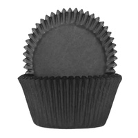 Black Baking Cups 5.5cm - 100 Pack