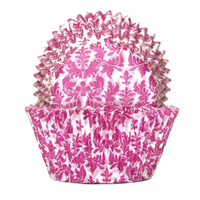 HIGH TEA PINK BAKING CUPS 5.5CM - 100 PACK