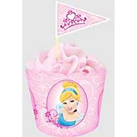 PRINCESS FLAT BAKING CUPS & PICKS - 18 PACK