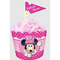 Minnie Mouse Flat Baking Cups & Picks - 18 Pack