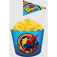 SPIDERMAN FLAT BAKING CUPS & PICKS