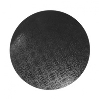 MDF Cake Board Black 12 Inch Round 6mm