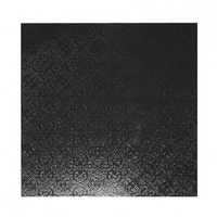 MDF Cake Board Black 8 Inch Square 6mm