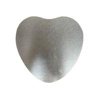 9.5 Inch Heart 6mm Cake Board Silver