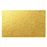 9x11 Inch Rectangle Gold 6mm Cake Board