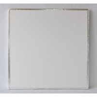Cake Board Square Taped Edge - 8 Inch
