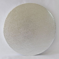 Cake Board Round Polystyrene Silver - 8 Inch