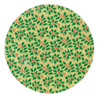 "Xmas Holly 10"" Round Cake Card, 4mm Thick"