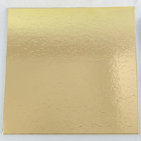 Cake Board Square 4mm Gold - 6 Inch
