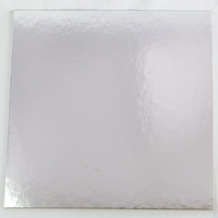Cake Board Square 4mm Silver - 7 Inch