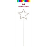 4.5cm Star Diamante Cake Topper