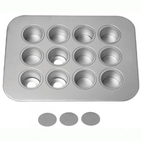 Chicago Uncoated 12cup Mini Cheesecake Pan