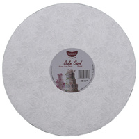 Gobake Cake Card Round 3mm Silver - 11 Inch