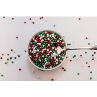 Sugar Pearls 4-5mm Xmas Blend - 10g