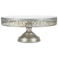 VICTORIA COLLECTION 16 INCH/40CM CAKE STAND SET - SILVER