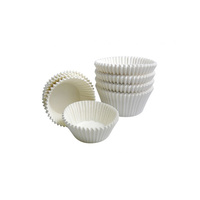Candy Paper Truffle Cups White - 100 Pack