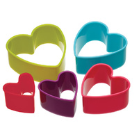COLOURWORKS HEART COOKIE CUTTER SET
