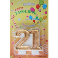21 Numeral candle, gold