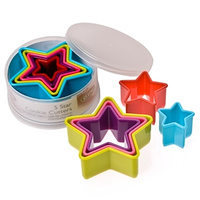 STAR COOKIE CUTTER - 5 PIECE SET