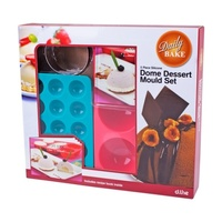 5-Piece Silicone Dome Dessert Mould Gift Set
