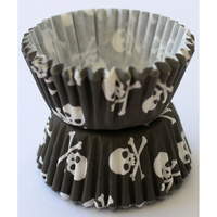 SKULL & CROSSBONES BAKING CASES - 4.5CM