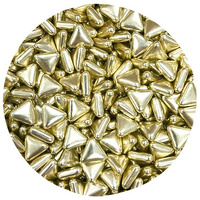 Triangle Shaped Gold Sprinkles
