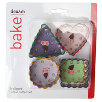 DEXAM SCALLOPED EDGE COOKIE CUTTER SET