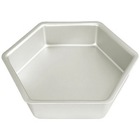 Fat Daddio's Hexagonal Cake Pan - 12 X 3 Inch