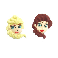 Frozen - Elsa & Anna Face Edible Decorations 2pcs