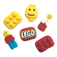 Lego Sugar Decorations 6pcs