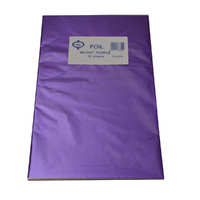 Home Style Chocolates Foil Wrap Bright Purple
