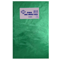 Home Style Chocolates Foil Wrap Emerald Green