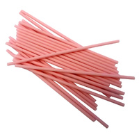 Lollipop Sticks Pink Long 150mm - 25 Pack